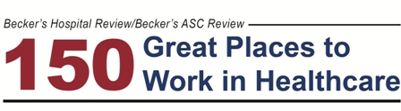 Becker's Hospital Review 150 Great Places to Work in Healthcare Logo