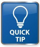 Image of Lightbulb and Phrase Quick Tip