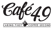 Image of Cafe 49 Logo and Tagline