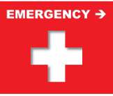 Image of Emergency Room Directional Sign