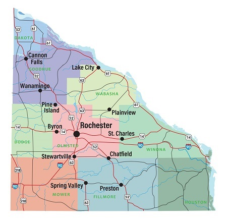 Image of OMC Locations in Southeast Minnesota