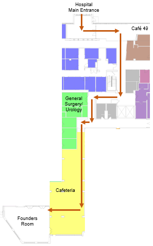 Founders room map